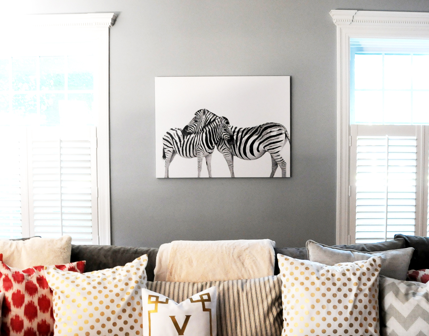 Zebra obsession rsvp paper co zebra canvas rsvp paper co altavistaventures Gallery